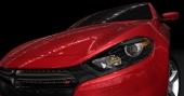 2013 Dodge Dart får en stark utstrålning i formspråket med typisk Dodge-grill.