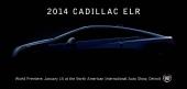 2014 Cadillac ELR premiärvisas den 15 januari i Detroit