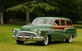 Den magnifika Buick Roadmaster Estate Wagon. Sista årsmodellen av Buick med inslag av riktigt trä.
