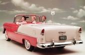 1955 Chevrolet Bel Air Convertible. En visuell lyxvagn för den amerikanska, lägre medelklassen.