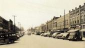 Sannolikt Main Street i LaFolette cirka 1947.