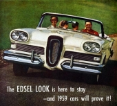 En glädjebild där man är övertygad att andra märken skall ha Edsel som förebild.