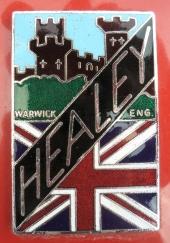 Emblemet för bilmärket Healey.