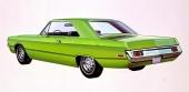 En typisk takform på 2dr hardtop. Är en Dart av 1970 års modell.
