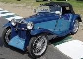 Sportighet men också elegans över denna 1935 Midget med tvåfärgslackering, vilket var ganska vanligt på brittiska bilar från den här tiden.