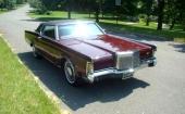 Endast små detaljändringar på 1970 Lincoln Continental Mark III.