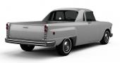 Notera hur perfekt bakskärmarnas utbuktning passar på denna utility, eller Sport Pickup Crossover som Checker valt att kalla modellen.