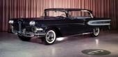1958 Edsel Citation i sober svart lackering! Med detta utseende var den en lyxvagn!