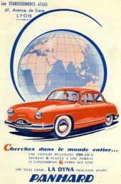 En lika tidig reklam för samma bil.