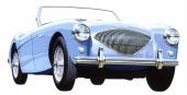 1952 Austin-Healey 100. Rena, sportiga linjer. Bilen som Leonard Lord föll för!