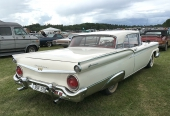 1959 Ford Fairlane 500 Galaxie Skyliner Retractable i ett beundransvärt skick. Ägare Kjell-Erik Andersson, Möklinta.