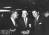 Tre tungviktare inom amerikansk politik: Från vänster Rockefeller, George Romney samt Ronald Reagan. Foto: LIFE