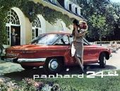 Panhard 24 CT i all sin elegans! Borta var de runda formerna till förmån för sextiotalets kantiga formspråk. Men formgivaren var densamme.