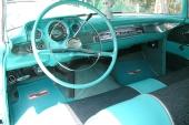Instrumentpanelen på 1957 års modell gjordes om radikalt. Här 1957 Bel Air.
